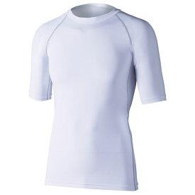 おたふく手袋(OTAFUKU) ストレッチ 半袖クルーネックシャツ 3L 白 JW-628