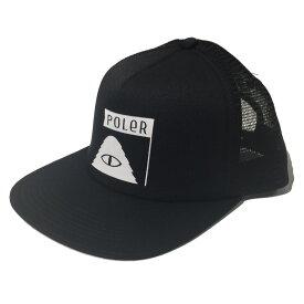POLeR(ポーラー) SUMMIT TRUCKER MESH CAP フリー BLACK 55300007-BLK