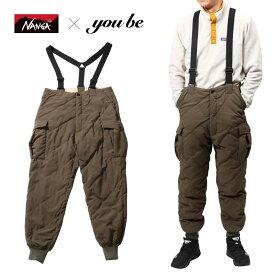 ナンガ(NANGA) 【 NANGA×you beコラボ企画】DOWN CARGO PANTS(ダウン カーゴ パンツ) M KHAKI(カーキ) NMNDK2F1