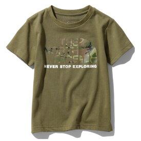 THE NORTH FACE(ザ・ノースフェイス) S/S CAMO LOGO TEE(ショートスリーブ カモ ロゴ Tシャツ) Kid's 120 BG(バーントオリーブ) NTJ31992