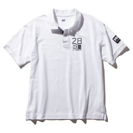 HELLY HANSEN(ヘリーハンセン) S/S Flag Polo(ショートスリーブ フラッグ ポロ)Men's L W(ホワイト) HH32001