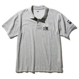 HELLY HANSEN(ヘリーハンセン) S/S Flag Polo(ショートスリーブ フラッグ ポロ)Men's M Z(ミックスグレー) HH32001