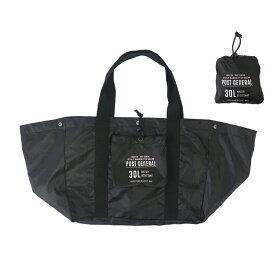 POST GENERAL(ポストジェネラル) パッカブルショッピングバスケットバッグ 30L ブラック 982040015
