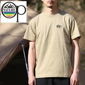 オーシャンパシフィック(Ocean Pacific) 【OP×ナチュラム】5.6オンス プリント Tシャツ 刺繍 L サンドカーキ 599005-R