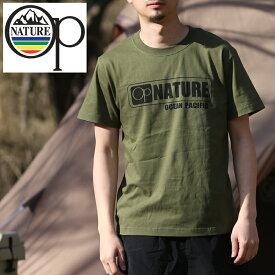 オーシャンパシフィック(Ocean Pacific) 【OP×ナチュラム】5.6オンス プリント Tシャツ ロゴ XL カーキ 599006-R