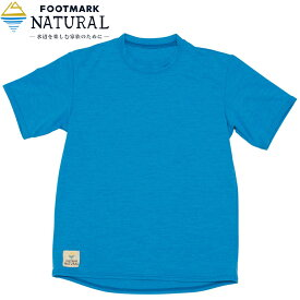 フットマークナチュラル(FOOTMARK NATURAL) 半袖プルオーバーTシャツ Kid's 140cm ブルー 0242069