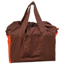 チケットトゥザムーン(TICKET TO THE MOON) エコ レジカゴバッグ 約40L チョコレート×オレンジ TMSH0435