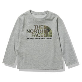 THE NORTH FACE(ザ・ノースフェイス) 【21春夏】K L/S CAMO LOGO TEE(ロングスリーブ カモ ロゴ ティー)キッズ 110 ミックスグレー(Z) NTJ32144