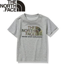 THE NORTH FACE(ザ・ノースフェイス) 【21春夏】K S/S CAMO LOGO TEE(ショート スリーブ カモ ロゴ ティー)キッズ 130 ミックスグレー(Z) NTJ32145