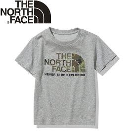 THE NORTH FACE(ザ・ノースフェイス) 【21春夏】K S/S CAMO LOGO TEE(ショート スリーブ カモ ロゴ ティー)キッズ 100 ミックスグレー(Z) NTJ32145