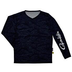 がまかつ(Gamakatsu) NO FLY ZONE(R)ロングスリーブTシャツ GM-3662 LL ネイビーカモフラージュ