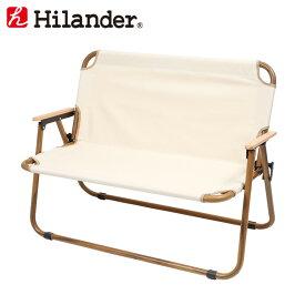 Hilander(ハイランダー) アルミフォールディングベンチ(2人掛け) HCA0253 大型便