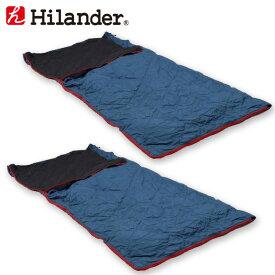 Hilander(ハイランダー) スーパーコンパクトシュラフ【お得な2点セット】 5℃(ネイビー) HCA2018