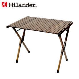 Hilander(ハイランダー) ウッドロールトップテーブル H70 ダークブラウン HCA0293