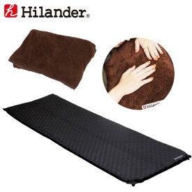 Hilander(ハイランダー) インフレーターマット3.5cm+インフレーターマット用ボア敷きパッド【お得な2点セット】 ブラック HCA0265UK-14
