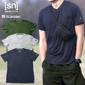 Hilander(ハイランダー) 【sn×Hilander】メリノウール ポケットTシャツ M ネイビー SN483
