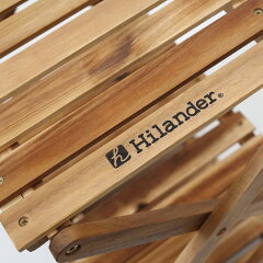 Hilander(ハイランダー)ウッド3段ラック460専用ケース付きブラウンUP-2549
