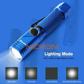 ニクロン(Nicron) Nicron B74 首振り ブルー 600LM 充電式 ブルー B74