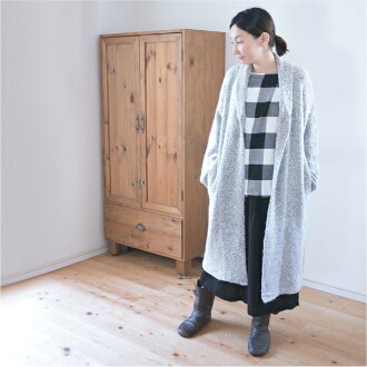 It is cardigan CD0331 in fall and winter in long long Japanese paper sleeve Lady's cardigan 30s 40s lovely mature natural clothes basic Shin pull mix-and-match plain fabric knit dress fall and winter