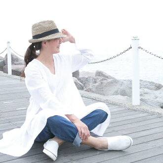 It is original NP0547 softly in 100% of A-line dress cotton 100-percent-cotton dress V neck long sleeves Shin pull cotton plain casual natural taste clothes dress dress short-sleeved long sleeves white white dress spring and summer