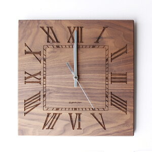 MUKU 掛け時計 ローマ数字 YK14-101 Br(ウオールナット) /!ウォールクロック/CLOCK/掛時計/時計/レトロ/シナ/ウォールナット/立体的/アート/合板/【日本製/yamato japan】