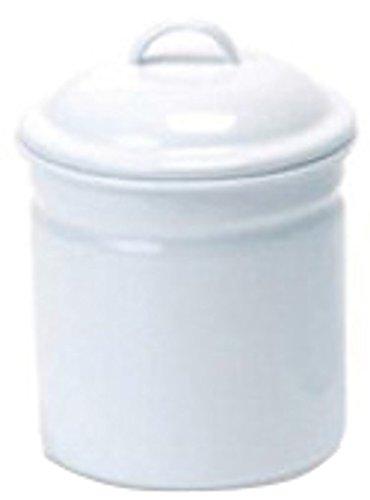 キャニスターS ホワイト 直径11 H15 ホーロー 545S/4512706622098/ポッシュリビング
