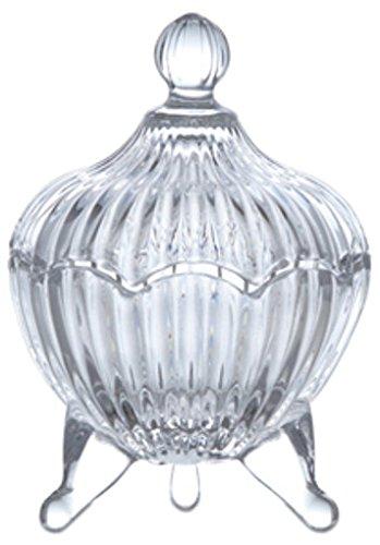 キャンディーポット/直径9 H13.5 /ガラス/4512706221543/22154