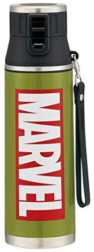 超軽量ダイレクトボトル/マーベルロゴ カーキ/スケーター/SDMC12 / 水筒/直径9.1×高さ30.6cm/マーベル/マーブル