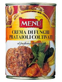 メニュー きのこペースト トリュフ風味  MENU Crema di funghi prataiali coltiuati al profumo di tartufo