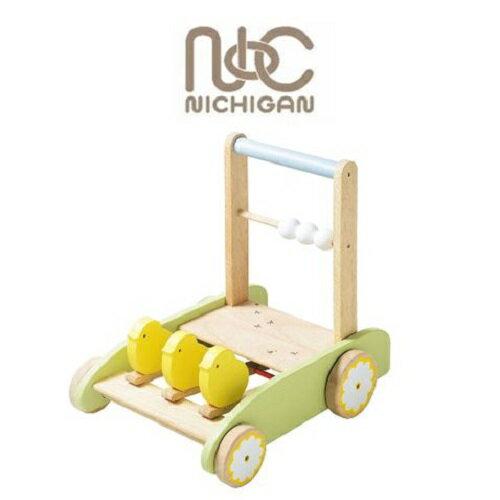 ニチガン おさんぽpipi 手押し車 赤ちゃん 知育 木製 BB37