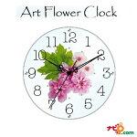 お花がアクセントの壁掛け時計!アートフラワークロックピンクWHITESTARLINEスターラインSW-1193PK