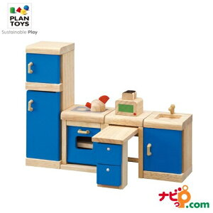 プラントイ PLANTOYS カラーキッチン 7310 木のおもちゃ 知育玩具 ドールハウス 家具 おうち キッチン ごっこあそび ままごと おままごと ギフト 木製玩具 木製