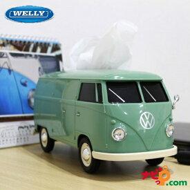 VWバス フォルクス ワーゲンバス ティッシュボックス ティッシュケースプラス グリーン 104030
