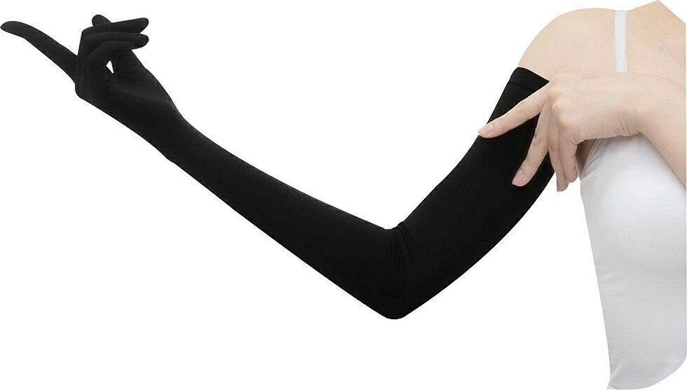 ドライビンググローブ 手袋 日焼け対策 手腕ひんやり接触冷感繊維使用 ロングUV手袋 【送料無料】