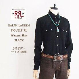 【SALE】【RRL by Ralph Lauren】ラルフローレン DOUBLE RL ダブルアールエル ウエスタン シャツ/BLACK