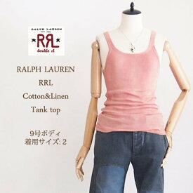 【SALE】【メール便可】【RRL by Ralph Lauren】ラルフローレン DOUBLE RL ダブルアールエル  タンクトップ/WASH RED【あす楽対応】
