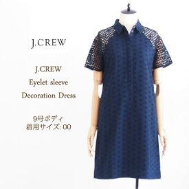 SPECIAL PRICE♪【SALE】【J.CREW】ジェイクルー アイレットレース 刺繍 ワンピース/NAVY【あす楽対応】