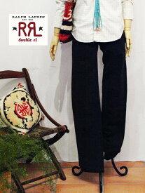 【SALE】【RRL by Ralph Lauren】ラルフローレン DOUBLE RL ダブルアールエル ウエスタン コットンツイルパンツ/BLACK