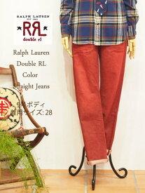 【SALE】【RRL byRalph Lauren】ラルフローレン DOUBLE RL ダブルアールエル ストレートカラージーンズ/RED