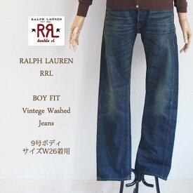 【SALE】【RRL by Ralph Lauren】ラルフローレン ダブルアールエル BOY FIT WOMENS ヴィンテージ ウォッシュ ストレートジーンズ