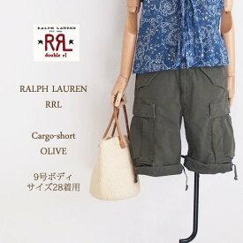 【SALE】【RRL by Ralph Lauren】ラルフローレン DOUBLE RL ダブルアールエル カーゴショートパンツ/OLIVE