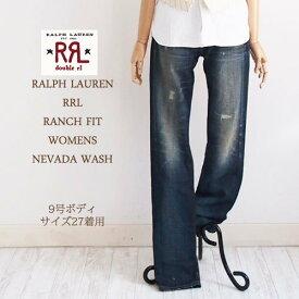 【SALE】【RRL by Ralph Lauren】ラルフローレン DOUBLE RL ダブルアールエル RANCH FIT WOMENS NEVADA WASH ダメージ ウォッシュ ジーンズ
