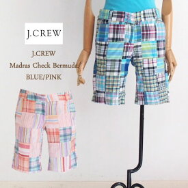 SPECIAL PRICE♪【SALE】【J.CREW】ジェイクルー マドラスチェック バミューダ パンツ/BLUE・PINK【あす楽対応】メール便可