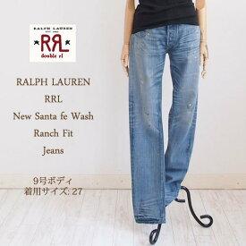 【SALE】【RRL by Ralph Lauren】ラルフローレン DOUBLE RL ダブルアールエル RANCH FIT リペアペイント ジーンズ