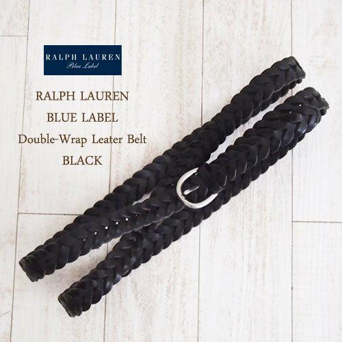 【SALE】【Blue Label by RalphLauren】ラルフローレン ブルーレーベル ダブルラップ レザーベルト/BLACK【あす楽対応】