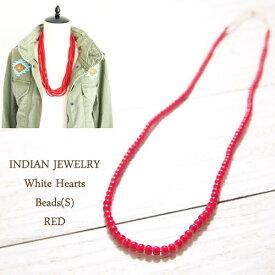 インディアン ジュエリー ホワイトハート ビーズ 3mm/REDINDIAN JEWELRY White Heart Beadsメール便可