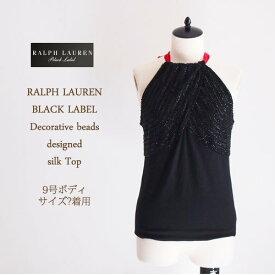 【SALE】【OUTLET】【BLACK LABEL by Ralph Lauren】ラルフローレン ブラックレーベル ビーズ デコラティブ デザイントップス/BLACK【あす楽対応】