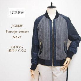 【SALE】【J.CREW】 ジェイクルー ピンストライプ ベースボールジャケット/NAVY【あす楽対応】