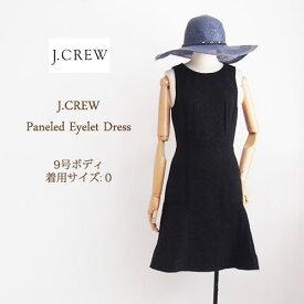 SPECIAL PRICE♪【SALE】【J.CREW】ジェイクルー スリーブレス アイレット ワンピース/BLACK【あす楽対応】