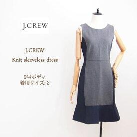 SPECIAL PRICE♪【SALE】【J.CREW】ジェイクルー スリーブレス ニットジャージー ワンピース/GREY/NAVY【あす楽対応】